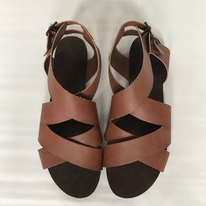 Candies Strappy Flat Sandals Size 8